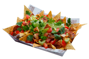 Pollo nacho transparente